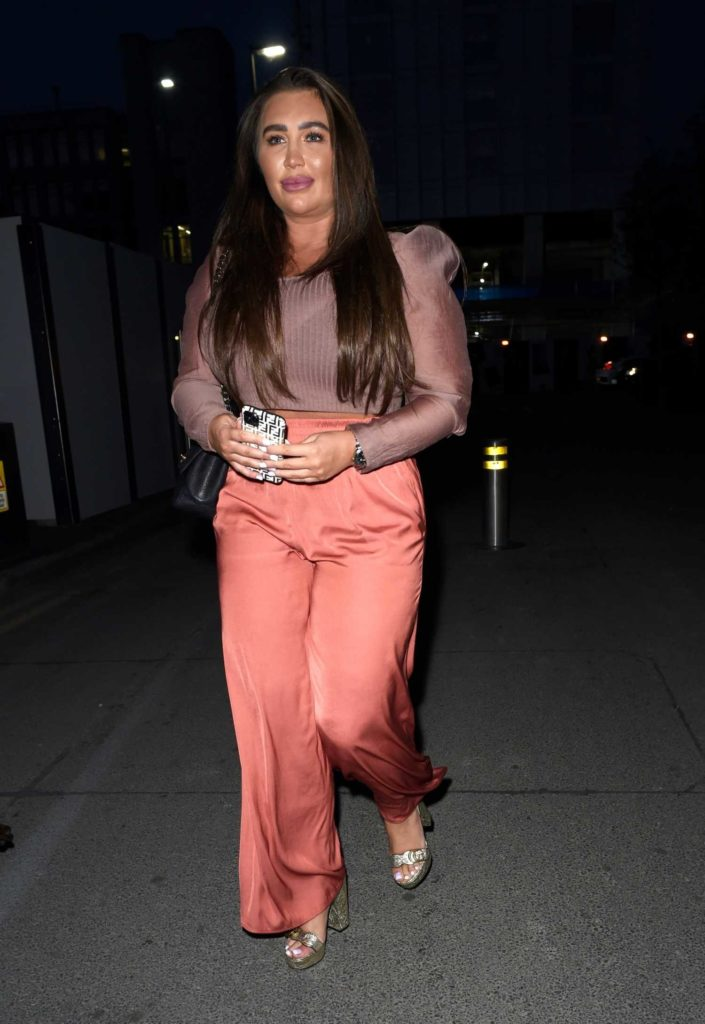 Lauren Goodger in a Pink Track Pants