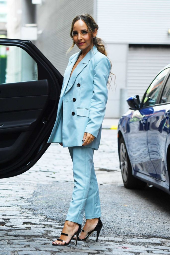 Lilliana Vazquez in a Light Blue Suit