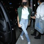 Madison Beer in a White Tee Leaves Dinner at BOA in Hollywood