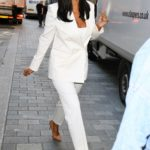 Maya Jama in a White Suit Was Seen Out in London