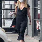 Mischa Barton in a Black Jumpsuit Enjoys Lunch with a Mystery Guy in Los Angeles
