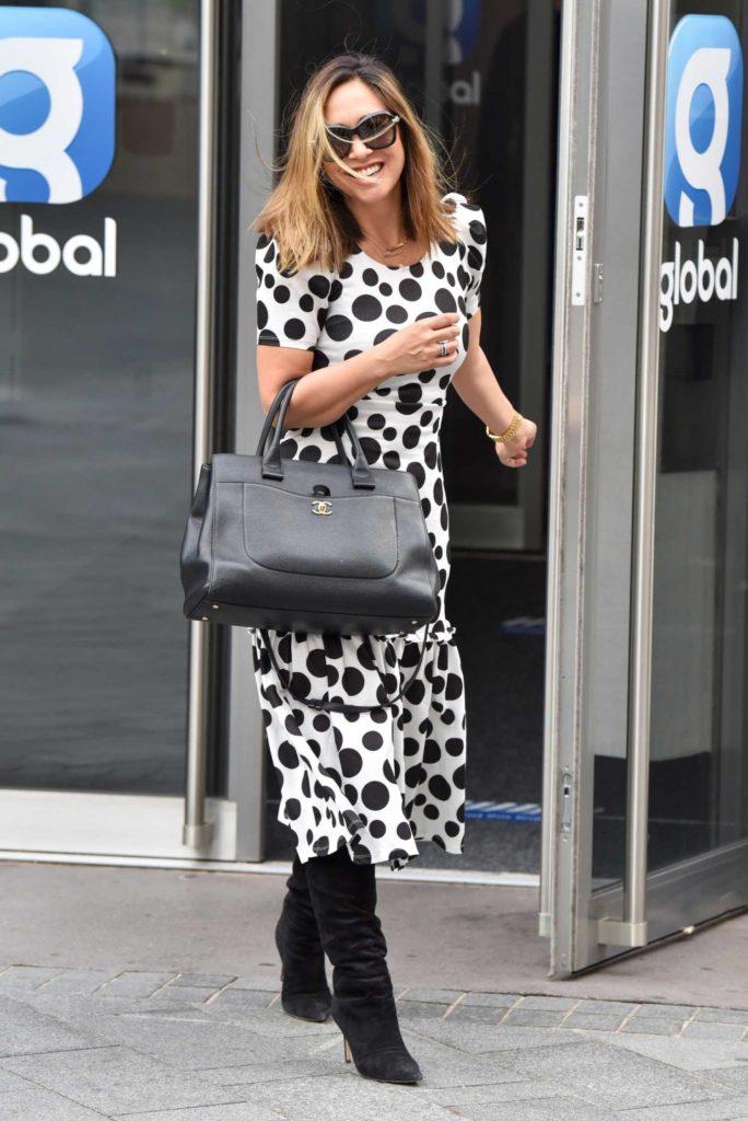 Myleene Klass in a Polka Dot Dress