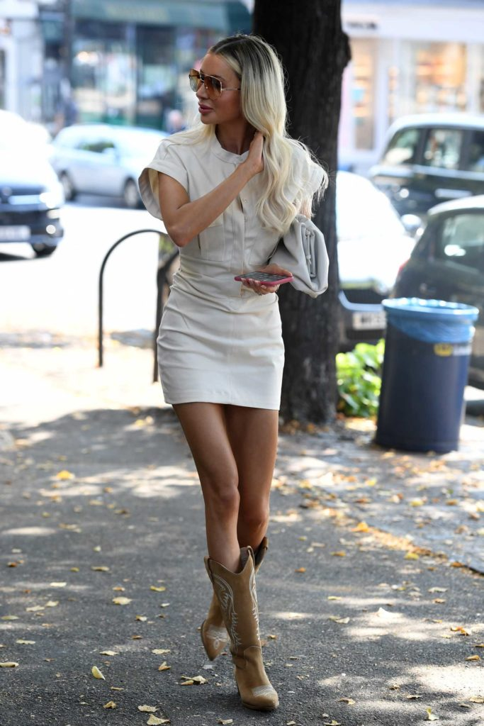 Olivia Attwood in a White Dress