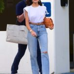 Olivia Culpo in a White Top Was Seen Out in Santa Monica