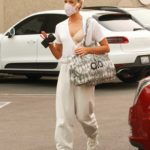 Peta Murgatroyd in a White Tee Arrives at the DWTS Studio in Los Angeles