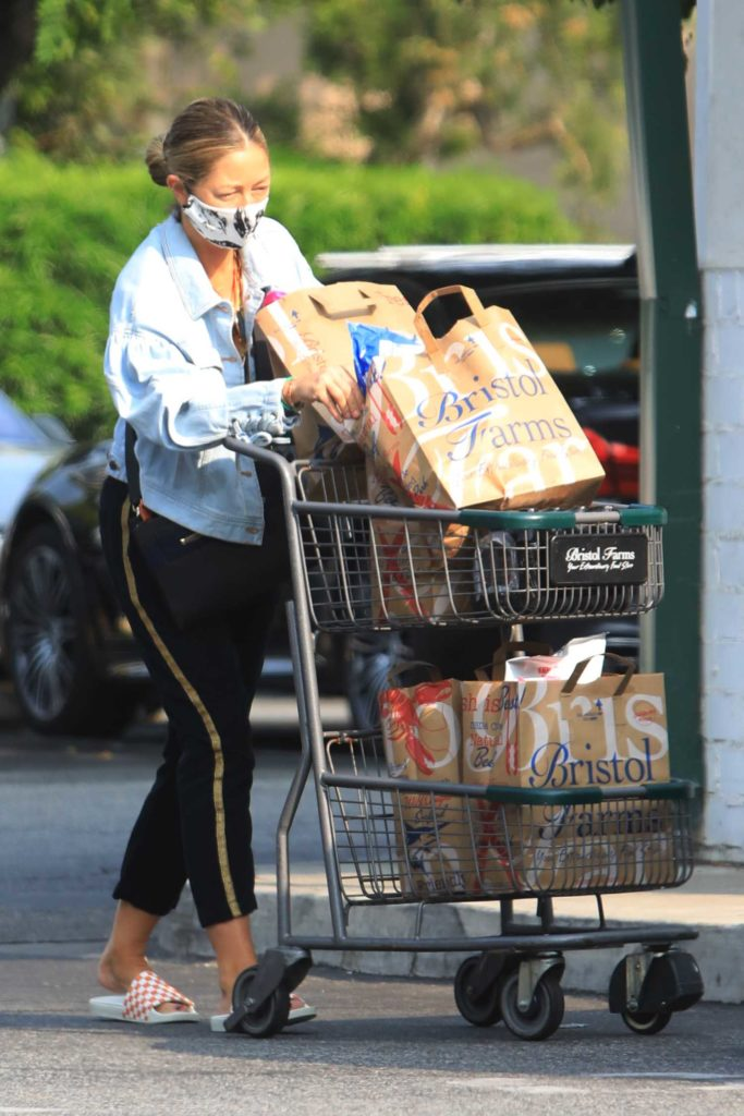 Rebecca Gayheart in a Protective Mask