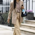 Shanina Shaik in a Beige Blazer Was Seen Out in London