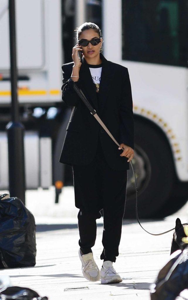 Shanina Shaik in a Black Blazer
