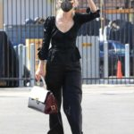 Anne Heche in a Black Suit Attends the DWTS Studio in Los Angeles