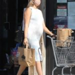 April Love Geary in a White Dress Goes Shopping in Malibu