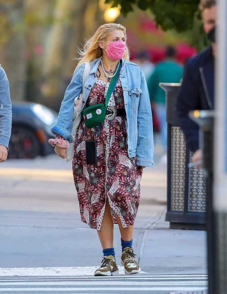 Busy Philipps in a Blue Denim Jacket