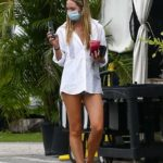 Candice Swanepoel in a White Shirt Was Seen Out in Miami