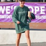Cara Santana in a Green Oversized Hoodie Was Seen Out in Los Angeles