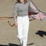 Chloe Moretz Flies a Kite on the Beach for Mother/Android in Boston