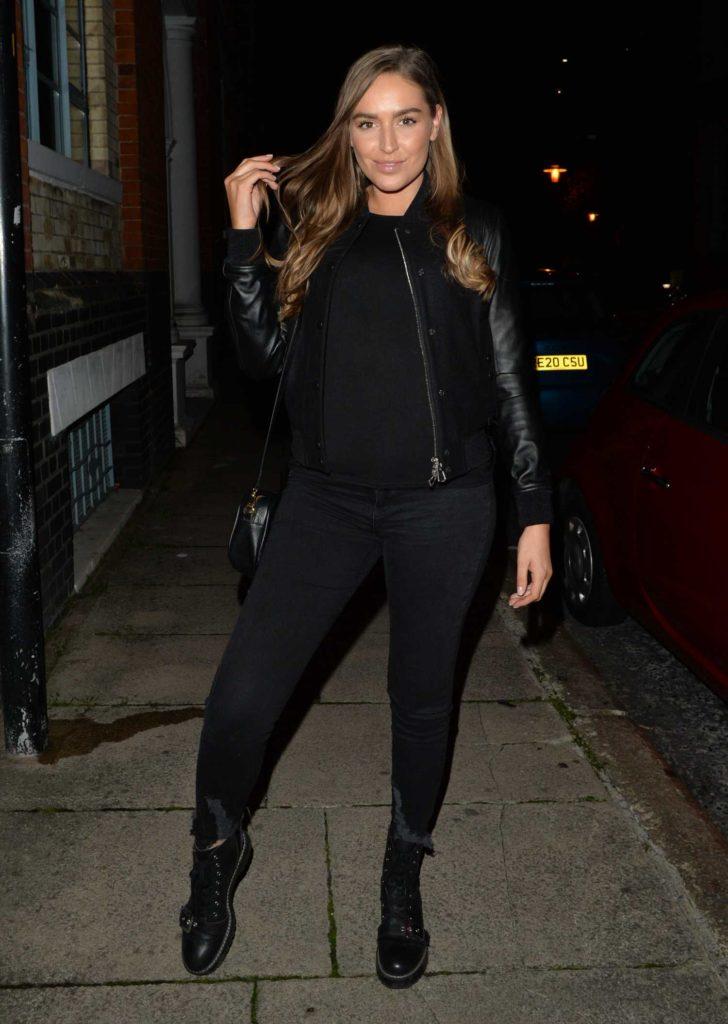 Chloe Ross in a Black Jacket