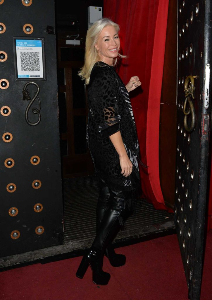 Denise Van Outen in a Black Cardigan