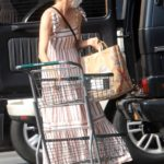 Diane Kruger in a Protective Mask Goes Grocery Shopping at Bristol Farms in Los Angeles