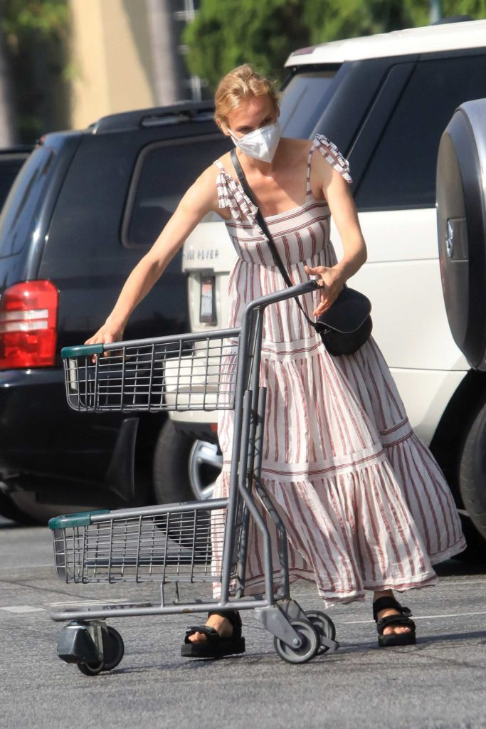 Diane Kruger in a Protective Mask