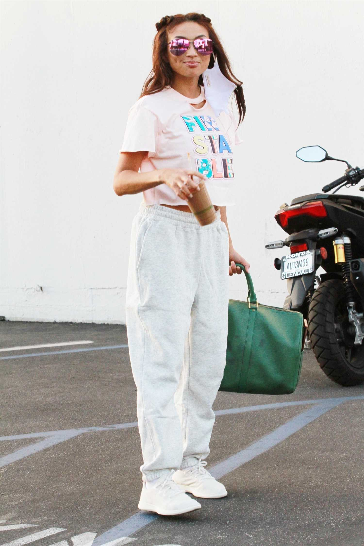 Jeannie Mai in a White Sneakers Heads to the DWTS Studio in Los Angeles