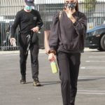 Jenna Johnson in a Protective Mask Arrives at the DWTS Studio in Los Angeles