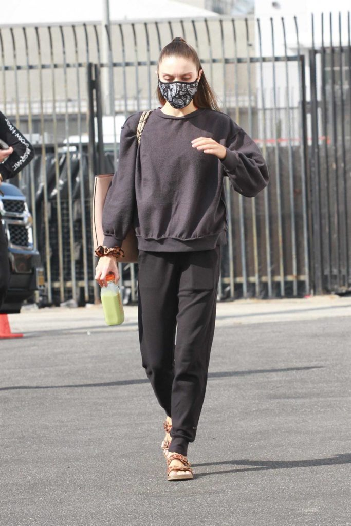 Jenna Johnson in a Protective Mask
