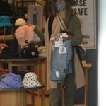 Jessica Alba in an Olive Sweatsuit Goes on a Shopping Spree at Urban Outfitters in Los Angeles