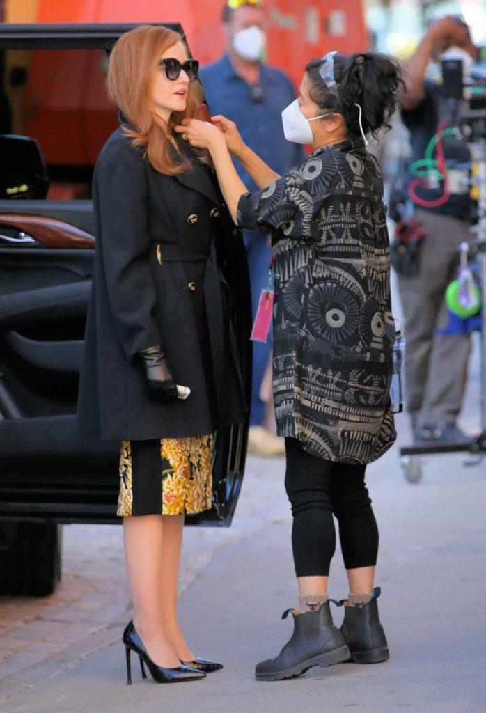 Julia Garner in a Black Coat