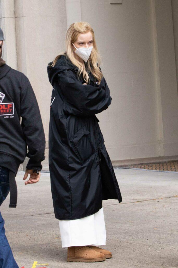 Julia Garner in a Protective Mask
