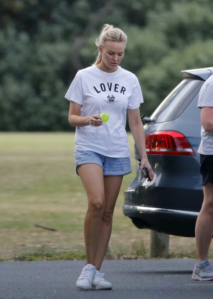 Julie Neale in a White Tee