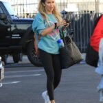 Kaitlyn Bristowe in a White Sneakers Heads to the DWTS Studio in Los Angeles