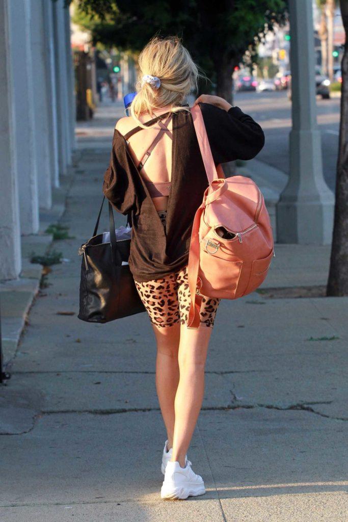 Kaitlyn Bristowe in an Animal Print Spandex Shorts