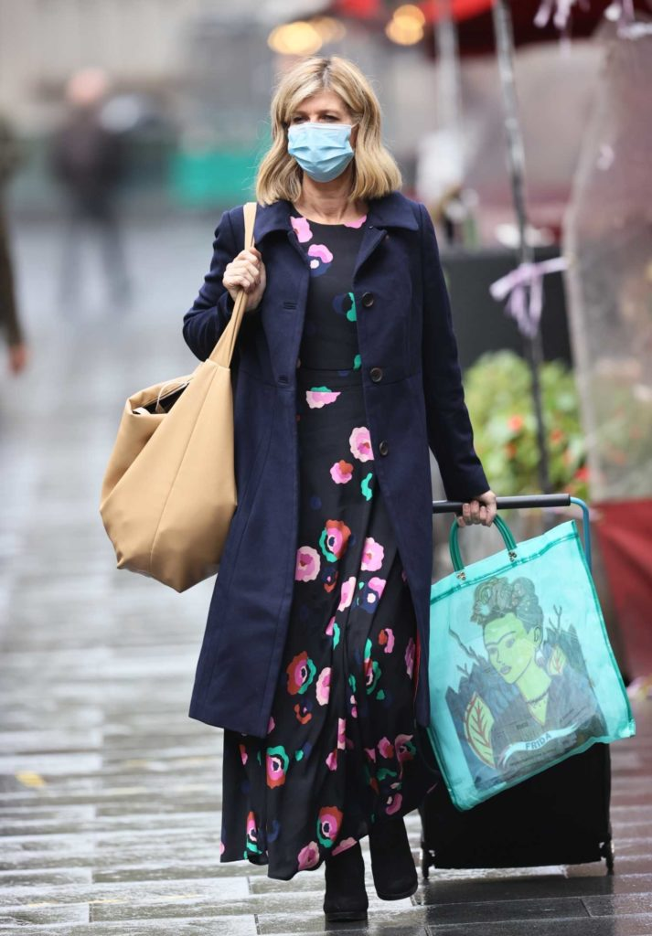 Kate Garraway in a Protective Mask