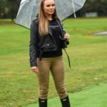 Kelsey Stratford in a Beige Pants on the Set of The Only Way is Essex TV Show in London