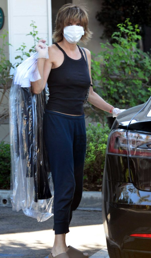 Lisa Rinna in a Black Tank Top