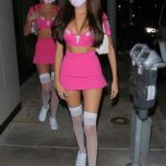Madison Beer in a Sexy Pink Halloween Costume Arrives with a Pal at Catch in West Hollywood