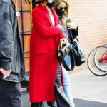 Miley Cyrus in a Red Coat Was Seen Out in New York