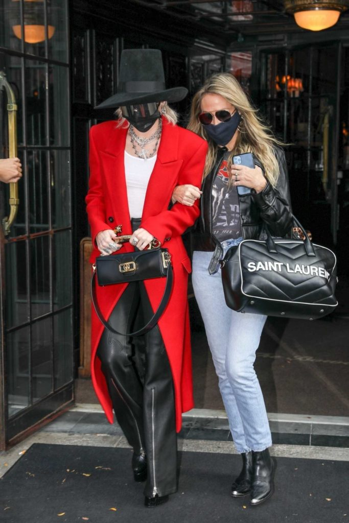 Miley Cyrus in a Red Coat