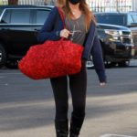 Monica Aldama in a Black Protective Mask Heads to the DWTS Studio in Los Angeles