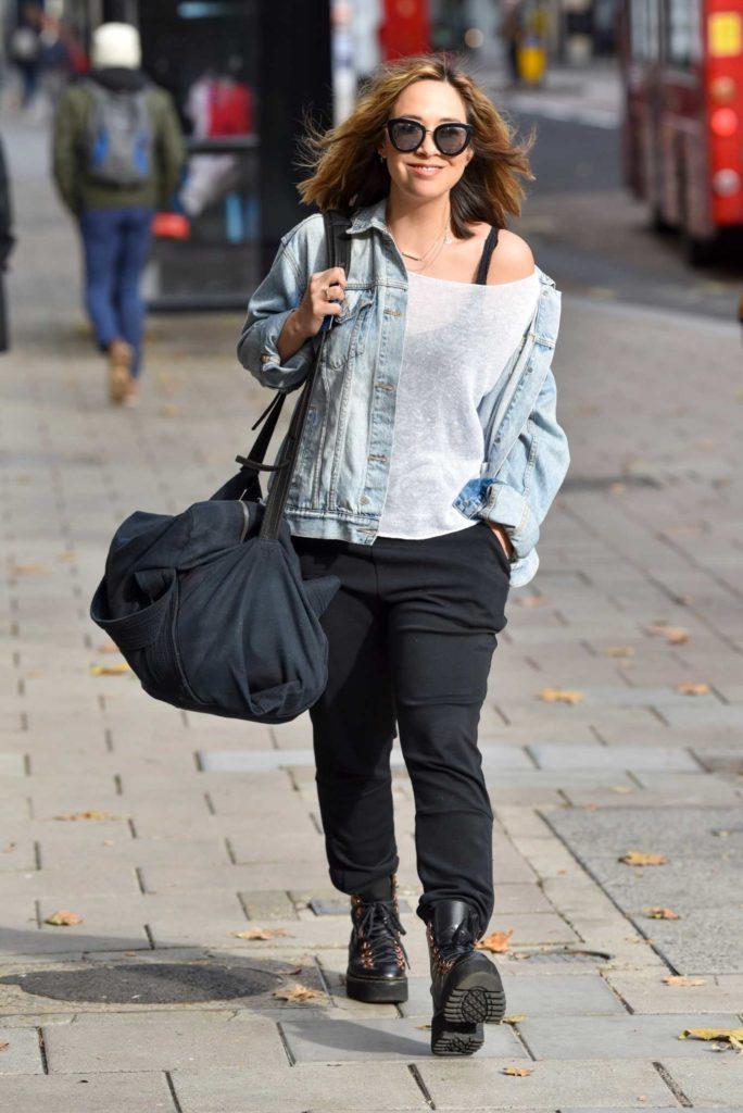 Myleene Klass in a Black Boots