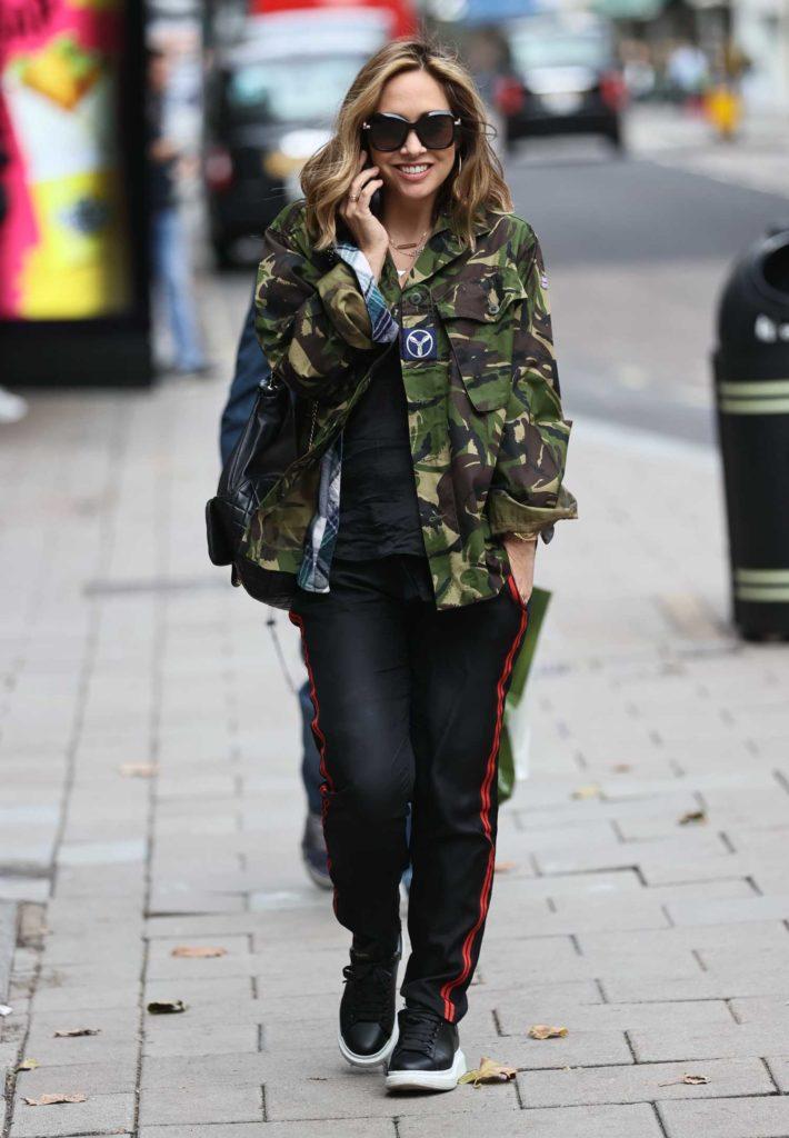 Myleene Klass in a Camo Jacket