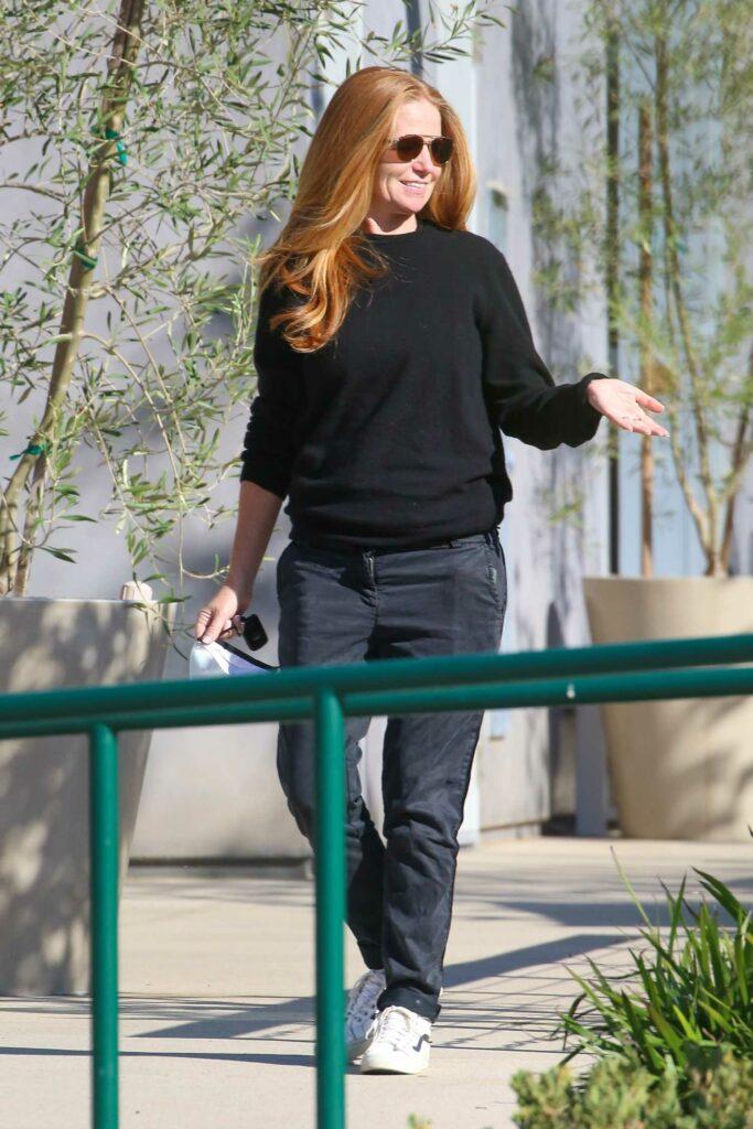Patsy Palmer in a Black Pants