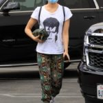 Peta Murgatroyd in a White Tee Arrives for Practice at the DWTS Studio in Los Angeles