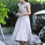 Rumer Willis in a Floral Dress Leaves the Earth Bar in Los Angeles