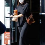 Scout Willis in a Black Sweater Makes a Trip to the Dry Cleaners in Los Angeles