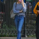 Sienna Miller in a White Sneakers Was Seen Out in Soho, New York