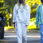 Sophie Turner in a White Sweatsuit Was Seen Out with Joe Jonas in Los Angeles