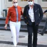 Yolanda Hadid in a White Pants Was Seen Out with Joseph Jingoli in Soho, New York