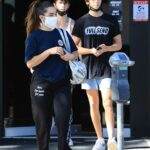 Addison Rae in a Blue Tee Leaves the Gym in Los Angeles
