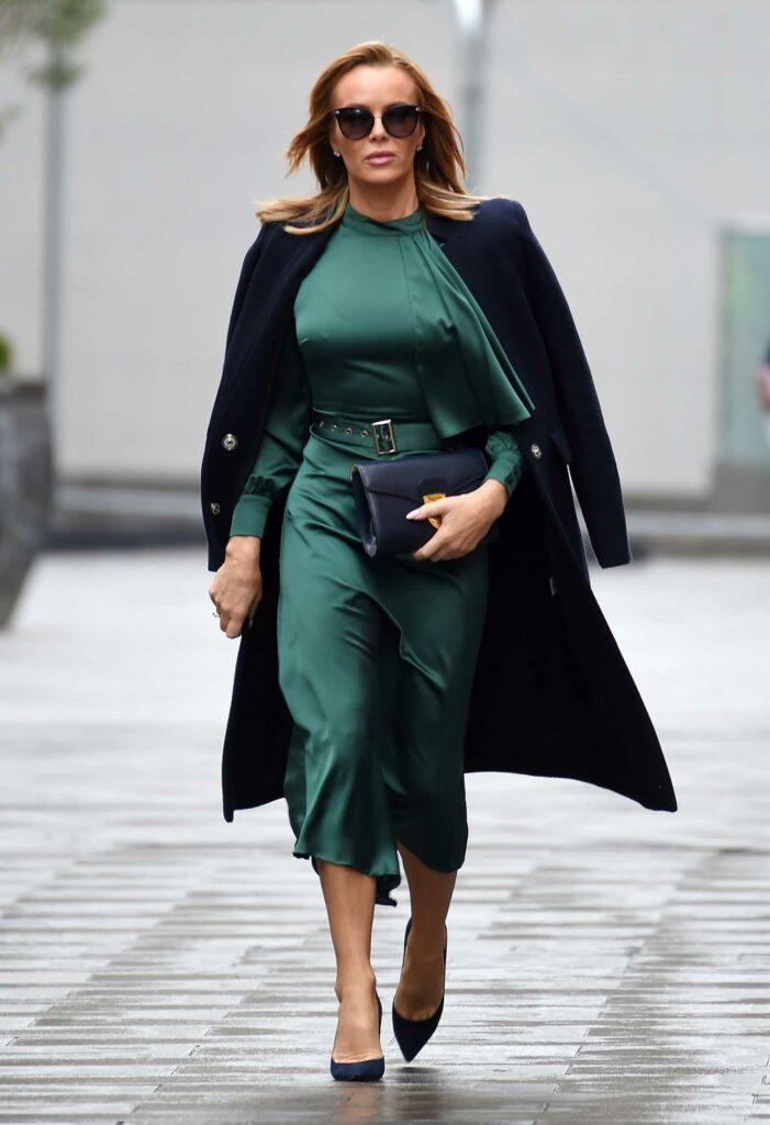 Amanda Holden in a Green Dress