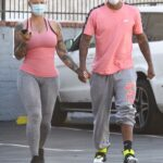 Amber Rose in a Pink Tank Top Leaves Her Workout Session in West Hollywood